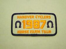 Vintage Hanover Cyclers 1987 Horse Farm Tour Embroidered Iron On Patch