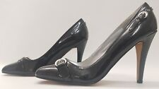 SPOT ON ladies womens black patent shoes Size 8 EU 41 NEW