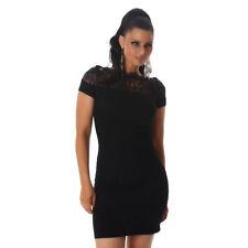 Sexy Elegantes Kleid mit Spitze Minikleid Kleid Cocktailkleid Schwarz Größe 38