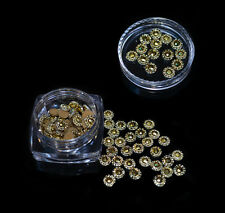 GOLD GEMS CRYSTAL TIP NAIL ART DECORATION JEWELRY CHARMS FOR NAILS 5mm