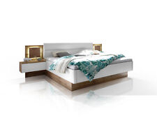 CAMERON Bettanlage Bett Doppelbett 180x200 inkl. Nachtkommoden Wildeiche Dekor