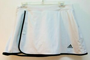 Adidas Women's Skort White Tennis Golf Active Wear Wrapped Lined no pockets M