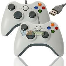 2X USB Wired GamePad Controller Like Xbox 360 for Microsoft PC White