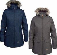 Ladies Womens TRESPASS Waterproof Padded Parka Coat Jacket with Faux Fur Hood