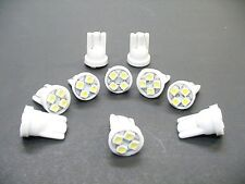 10 Bright Cool White 194 LED Wedge Instrument Panel Speedometer Light Bulbs Chev