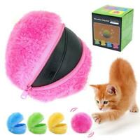 Roller Ball Automatic Dog Cat Toys Robotic Microfiber Mop Ball Sweeper New