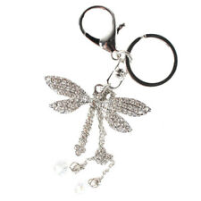 Dragonfly Angel Wing Bead Lovely Pendent Accesories Crystal Purse Bag Key Chain