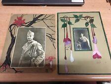 guerre 1914 1918 WWI 2 photo émouvante agrémenté de dessin unique daté 1915