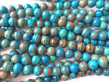 Calsilica Rainbow Semi Precious Stone Man-made Dyed 12mm Round Bead Q1 Strand