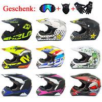 Motorradhelm Rollerhelm Jethelm Sturzhelm Farradhelm + Handschuhe Maske Brille
