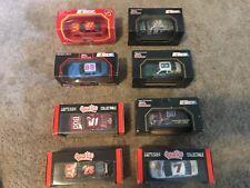 LOT OF 8 RACING CHAMPION & QUARTZO 1:43 DIE-CAST NASCAR CARS, 1990'S, NEW