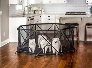 Carlson 8-Panel Foldable and Portable Steel Pet Exercise and Play Pen, with C...