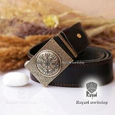 Vegvisir Vikings buckle. Vegvisir Viking belt. Viking Jewelry