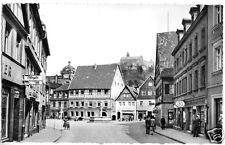 AK, Kulmbach, Steintorstr. mit Blick zur Plassenburg, um 1962