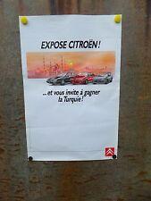 Affiche Poster publicitaire Citroën XM, BX, AX