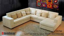 4-Piece Modern Microfiber Sectional Sofa Set S04
