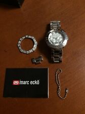 MARC ECKO The Take Down E20034G1  Quartz Watch 2 bezels in box