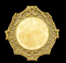 Petit miroir rond de table vers 1920 small table mirror H: 15 cm 523 g