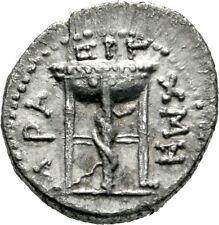 LANZ Antiochia Orontes Nero Drachme Nominal 56 AD Schlange Dreifuß Äskulap Ag @3