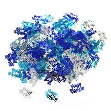 Happy Birthday Glitz Blue Table Decoration Confetti