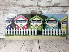 VW Camper Van Canvas Picture Wall Art Beach Hut Holiday By The Sea 10 x 24 New