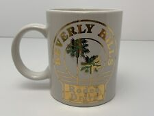 Vintage 90s Beverly Hills Rodeo Drive Coffee Mug White with Gold and Green