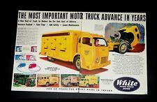 ORIGINAL 1949 White Horse Truck  COCA-COLA  BORDEN'S   Vintage Two-Page Print Ad