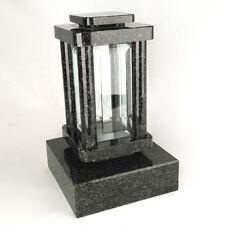 Grabschmuck Grablampe Grablaterne Friedhofslampe Grabsockel  aus Granit Impala