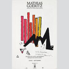 Mathias Goeritz. Arquitectura Emocional. Plakat Mexico 1984, signiert