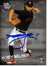 Hoby Milner 2018 Lehigh Valley IronPigs Signed Card