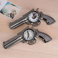 Funny Novelty Pistol Gun Design Alarm Clock Travel Desk Table Home Decor *