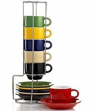 Gibson 13 piece Sensation Espresso Set Coffee Cups/Saucers with Stand