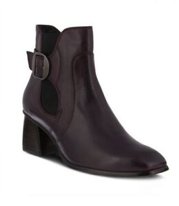 New In Box Womens Spring Step FELICE-PR Purple Leather Booties Boots