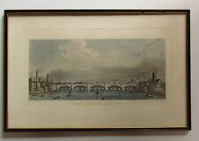 NEW LONDON BRIDGE PUGIN ENGRAVING 1831