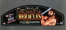 Bally Cinevision Video Slot Machine Glass THE TRIALS OF HERACLES
