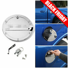 Car Door Gas Cap Cover With Locking Fuel Tank Trim For Ford F150 2015-18 Chrome