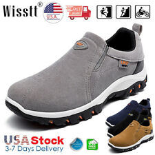 Mens Slip On Sports Outdoor Sneakers Casual Running Hiking Shoes Trainers Size 9