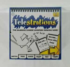 New - USAopoly Telestrations The Hilarious Chinese Whispers Drawing Game