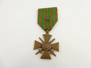 WW1 France / French Croix de Guerre 1914 - 1918 Medal With Bronze Star