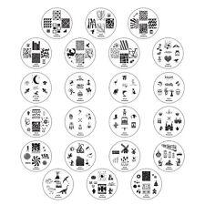 Winstonia Nail Art Stamp Plates Image Set Disc Fun 2 Gen Manicure Polish Stencil