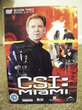 * DVD TV BOXSET * CSI MIAMI SEASON THREE PART TWO * DVD TELEVISION SET *