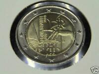 ITALIA 2009 2 Euro commemorativo Braille fior di conio da rotolino zecca FDC