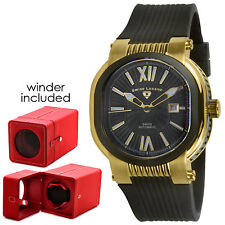 Swiss Legend Legato 90026-YG-01/W Automatic Gold Tone SS Men's Watch with Winder
