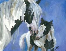 """ Mother's Day"" Gypsy Horses 2 ~ Gypsy Vanner , Cob  8X10 Print"