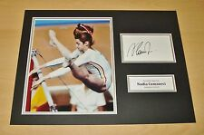 Nadia Comaneci HAND SIGNED Autograph 16x12 Photo Display 1976 Olympics + COA