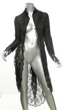THOMAS WYLDE Black SKULL PRINT LACE Dress Jacket Long Sleeve Cocktail Coat 2