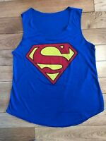 Women's Racer Back Superman Sleeveless Round Neck Muscle T Shirt Vest Top