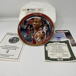 Michael Jordan Record 72 Wins Limited Edition Plate New in Box! Upper Deck COA