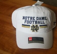 Notre Dame Football Men`s White Hat by Under Armour One Size Fits