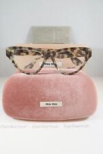Miu Miu VMU 10N UAF-1O1 White Havana New Authentic Eyeglasses 54mm w/Box